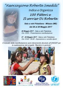 """Milazzo (Me). Il sorriso di Roberta per l'UNICEF – Progetto """"Bambini in pericolo"""""""
