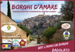 """Sabato 27 Maggio Badolato (Cz) per la manifestazione regionale """"Borghi d'Amare"""""""