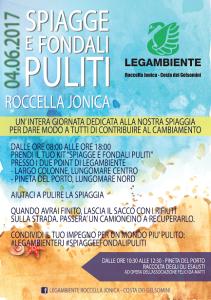 Legambiente: spiagge e fondali puliti a Roccella Jonica (Rc).