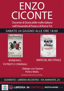 Soverato (Cz). Incontro con Enzo Ciconte, docente di Storia delle mafie italiane nell'Università di Pavia e di Roma Tre.