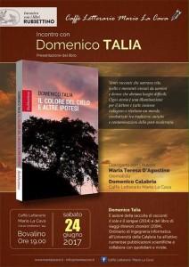 """Bovalino (Rc): Sabato al Caffè letterario """"Mario La Cava"""" presentazione del libro di Domenico Talia """"Il colore del cielo e altre ipotesi"""" (Rubbettino)"""