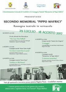"""Condofuri Marina (Rc), Secondo Memorial """"Pippo Mafrici"""": rassegna teatrale in vernacolo"""