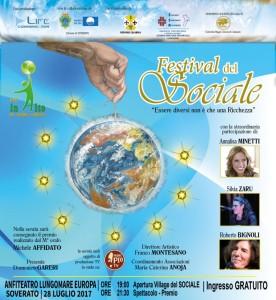"""Soverato (Cz). Il """"Festival del Sociale"""", venerdì 28 luglio ore 19.00 presso Anfiteatro Lungomare Europa."""