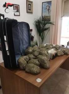 Milazzo (Me), due soggetti calabresi di Locri arrestati dai Carabinieri con l'accusa di detenzione ai fini di spaccio di sostanze stupefacenti.
