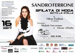 Rossano (Cs). La 3^ sfilata di moda Sandro Ferrone sotto le stelle  si terrà domenica 16 luglio
