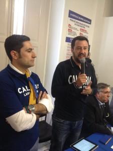 Calabria. Matteo Salvini in Calabria, lunedì 17 luglio,  contro l'invasione degli immigrati