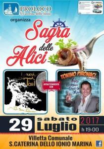 """Santa Caterina dello Jonio (Cz). Sabato 29 luglio """"Sagra delle Alici""""."""