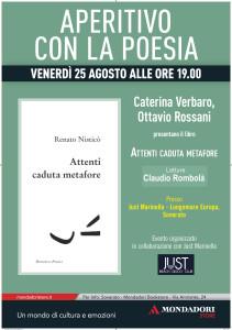 Soverato (Cz). Aperitivo con la poesia: Renato Nisticò venerdì 25 agosto ore 19:00