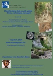 Chiacchieriamo della Locride antica. Storia, archeologia, paesaggio. Parco Archeologico Nazionale di Locri (Rc).