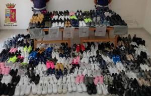 Milazzo (Me). La Polizia sequestra centinaia di calzature contraffatte. Denunciate tre persone.