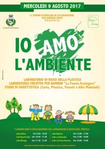 """Bovalino (Rc):   L'Amministrazione accelera i tempi per cominciare ad informare i cittadini.. 9 agosto 2017 """"Io amo l'ambiente"""", giornata ecologica per la salvaguardia dell'ambiente."""