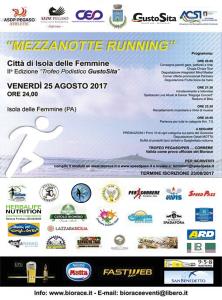 """Isola delle Femmine (Pa). Sport: a Isola delle Femmine la """"Mezzanotte Running"""""""