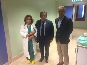 Catania. Il sindaco Bianco in visita al Vigile urbano ferito