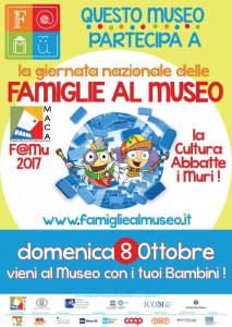 Acri (Cs). Giornata Nazionale delle Famiglie al Museo domenica 8 ottobre 2017, il MACA aderisce a FAMu