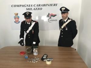 Milazzo (Me): 20enne arrestato dai Carabinieri per possesso di droga.