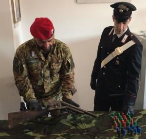 Locri (Rc). Carabinieri: rinvenimento di armi.