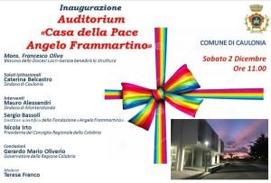 """Caulonia (Rc). Inaugurazione Auditorium """"Casa della Pace Angelo Frammartino"""""""
