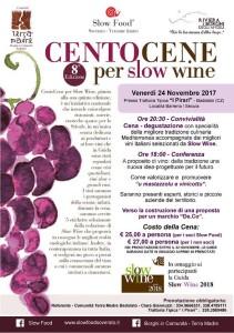 Badolato (Cz). CentoCene per Slow Wine in Calabria: evento  il 24 Novembre.
