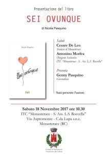 """Monasterace (Rc). Il Prof. Nicola Pasquino in Calabria per presentare il suo libro dal titolo """"Sei ovunque""""."""