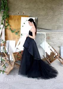gaia-chiofalo-in-vestito-da-sposa-nero