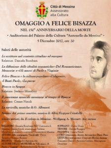 Messina. Al Palacultura commemorazione Felice Bisazza con musica, teatro e poesia.