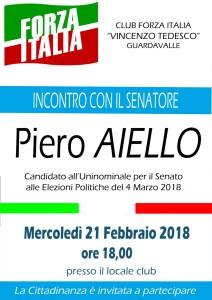Guardavalle (Cz). Il Senatore Piero Aiello incontra i cittadini.