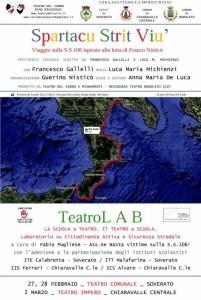 """Associazione """"Basta Vittime Sulla Strada Statale 106"""": """"Spartacu strit viù"""": un messaggio d'amore e speranza alla Calabria"""