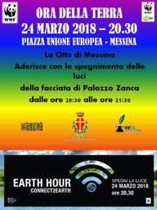 """Il Comune di Messina aderisce alla campagna del Wwf """"Earth Hour – L'Ora della Terra"""" in programma sabato 24"""