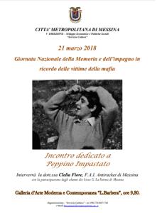"""Città Metropolitana di Messina, incontro con gli studenti per la """"Giornata Nazionale della Memoria e dell'impegno in ricordo delle vittime della mafia"""""""