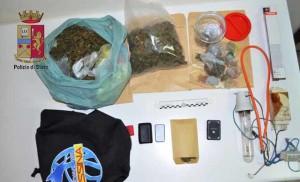 Messina. La Polizia di Stato arresta un giovane per produzione e detenzione ai fini di spaccio di sostanza stupefacente.