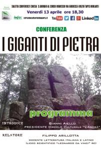 """Reggio Calabria. """"I giganti di pietra"""", se ne discuterà al Circolo Culturale """"L'Agorà"""""""