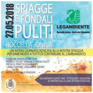 Roccella Jonica (Rc). Spiagge e Fondali Puliti 2018