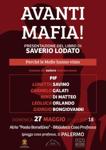 """Palermo. Presentazione del libro di Saverio Lodato """"Avanti mafia!"""", domenica 27 maggio."""
