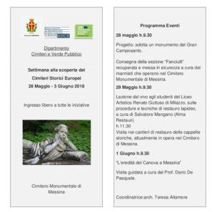 Messina. Alla scoperta dei cimiteri storici europei. Eventi al Gran Camposanto