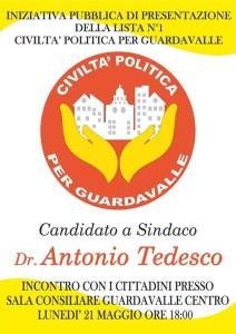 """Guardavalle (Cz). Elezioni, i candidati di """"Civiltà Politica"""" incontreranno i cittadini."""