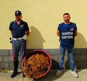La Polizia di Stato collabora all'attività di contrasto della pesca di frodo in località San Giorgio di Gioiosa Marea (Me).