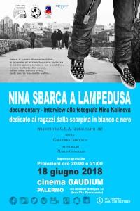 """Palermo. Proiezione del documentario """"Nina sbarca a Lampedusa """"  dedicato ai ragazzi dalla scarpina in bianco e nero"""