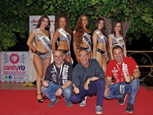 "Acireale. Kermesse di bellezza alla seconda tappa di ""Miss Motors""."