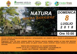Catania. Domenica 8 luglio 2018: Natura senza barriere