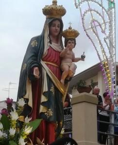 Santa Teresa di Riva (Me). Processione a mare per celebrare la Madonna di Portosalvo.