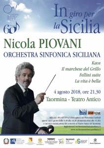"""Taormina (Me). Piovani dirige la Sinfonica: """"Sfido chiunque a non emozionarsi""""."""