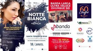 Santa Teresa di Riva (Me). Appuntamento sabato 18 agosto per la Notte Bianca, con la straordinaria partecipazione di Anna Tatangelo.