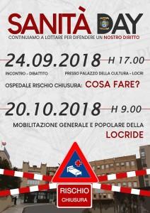 """Locri (Rc). Lunedì 24 settembre confronto pubblico sul tema:""""Ospedale della Locride: cosa fare?"""""""