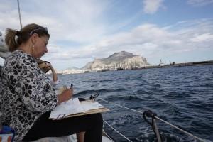 """Secondo appuntamento del progetto """"Palermo dal mare"""" promosso da BCsicilia nell'ambito del Big Draw Festival"""