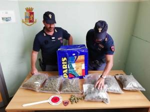 Messina. Servizi antidroga. La Polizia di Stato sequestra più di due chili d'erba e ne arresta il detentore