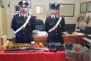 Reggio Calabria. 57enne arrestato per detenzione di armi e munizioni.