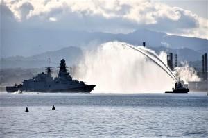 """La nave """"Rizzo"""" è arrivata nel porto di Milazzo: al via il programma degli eventi."""