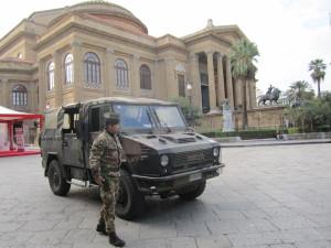 Palermo. 4° Reggimento Genio Guastatori della Brigata Aosta: strade sicure