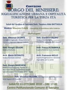 """Satriano (Cz). """"Borgo del Benessere"""", riqualificazione e ospitalità, se ne parlerà il 13 ottobre."""