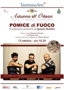 """Taormina (Me). Autunno all'Odeon: sabato 13 ottobre """"Pomice di fuoco""""."""